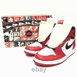 Nike Air Jordan I 1 Chicago Blanc Rouge 1994 Avec Og Box Sz 6 153126-101 Vtg Rare