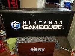 Nintendo Gamecube Light Box Rare Inscrivez-vous Translite Afficher Magasin Vintage