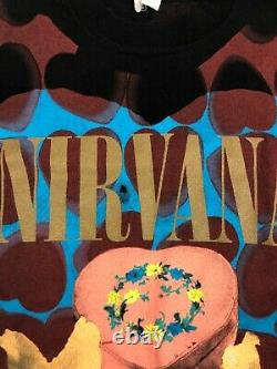 Nirvana Heart Shaped Box Shirt Rare Mint Cond Vintage 1993 Taille Grande