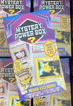 Nouveau Pokemon Mystery Power Box Rare Meijer Graded Cards 125 Vintage Packs 110