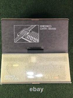 Nouveau Rare Vintage 1984 Nos Seiko Data-2000 Montre Calculatrice De Poignet LCD