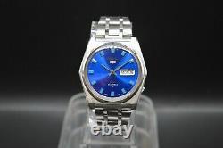 Octobre 1968 Très Rare Vintage Seiko DX Bleu Bracelet D'origine Montre Automatique