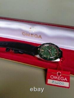 Omega Seamaster 120m Factory Green Dial-rare Vintage With Box&tag- Vent Manuel