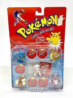 Pokémon Tomy Movie 5-pack Mew Gyarados Nidoking Vintage Boxed Retro 90s Rare New