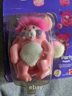 Popples Poche Mini, Party Popple #1245 Mattel 1986 Vtg Rare En Boîte