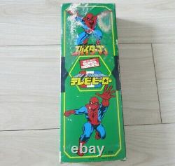 Popy Spiderman Avec Boîte / Japon Japonais 1978 Mego Vintage Rare