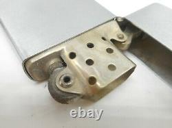 Rare 1940s Vintage 3 Barrique Charnière Nickel Argent Zippo Cigarette Lighter En Box