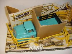 Rare 1950 Vintage Buddy L Western Round Up Set Withgmc Truck Withbox