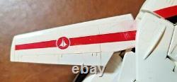 Rare 1985 Vintage Hasbro G1 Transformateurs Jetfire Robot Wmacross & Boîte Endommagée