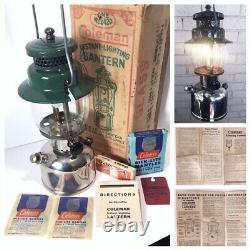 Rare Coleman 6/49 242c Lanterne À Manteau Unique Orig Box Paperwork Silklites & More