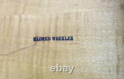 Rare Eldred Wheeler Solide Tigre Table D'angle D'érable W Tiroir Puissant Tigre Allover