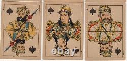 Rare Old Antique Raja Ravi Varma Square Corner Playing Cards Indian Artist Art