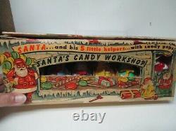 Rare Rosen Vintage Rosbro Sears Christmas Santa's Candy Atelier En Orig Box