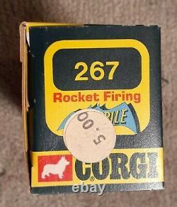 Rare Vieille Voiture Batmobile Corgi Numéro De Jouet #267 Mettoy 1973 Boîte À Fenêtre