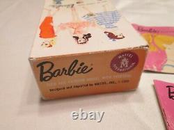 Rare Vintage 1959 Blond Barbie Avec Boîte Et Accessoires #4
