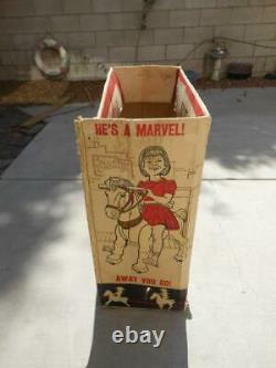 Rare Vintage 1967 Marx Toy Marvel The Mustang Horse Ride Orig Box & Instruction