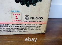 Rare Vintage 1985 Nikko Japon Rc Bison F-10 Frame Buggy En Boîte Thunderbolt Rhino
