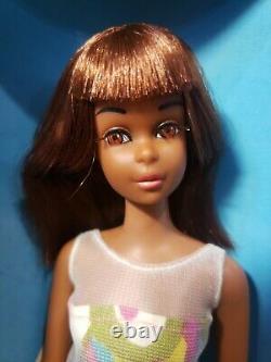 Rare Vintage Black Francie Tnt Barbie Doll 1967 1ère Édition Original Box Mattel