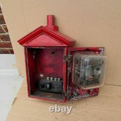 Rare Vintage Gamewell Small Signal D'alarme De Statiion D'incendie Boîte D'appel Nice