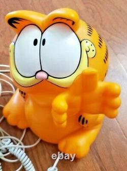 Rare Vintage Garfield Téléphone Parlant Tyco 1990 Boîte Originale