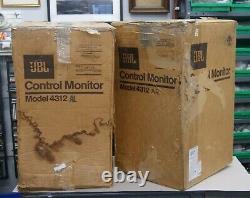 Rare Vintage Jbl 4312a Moniteurs Studio / Haut-parleurs Boîtes Originales Fonctionnent Très Bien L-3502