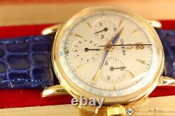 Rare Vintage Omega 2439 Chronographe En Or 14k 1949-1950 Cal 321 Box Pré Speedmaster