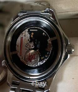 Rare Vintage Omega Seamaster Professional 300m Black Wave Cadran Montre 196.1640