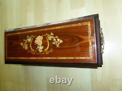 Rare Vintage Reuge Interchangeable Music Box 50 Notes 10 Songs (regarder Videos)
