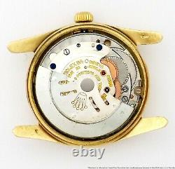 Rare Vintage Rolex Bombe 1011 14k Gold 1950s Box Papers Chronometer Mens Watch