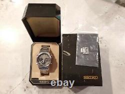 Rare Vintage Seiko 7a38-7020 / 7a38-7029 Grey Gray Royal Oak Chrono Works Box