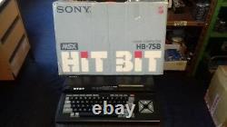 Rare Vintage Sony Hit Bit Hb 75b Msx Computer System (vgc Boxed)