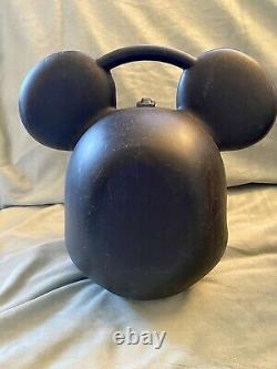 Rare Vtg Disney Mickey & Minnie Mouse Head Lunch Box Kit Avec 1 Thermos