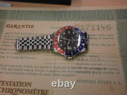 Rolex Gmt Master 1675 Rare 3.1 Mill. Montre Vintage D'origine. Magnifique. B/p