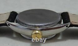 Rolex Oyster Perpetual 14k/ss Ladies Montre Rare Lunette Pétoncle Orig Cadran 1954