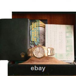 Rolex Rare Oyster Date Vintage 1503 Automatique Boîte En Or 18kt / Papier Perforé #1896