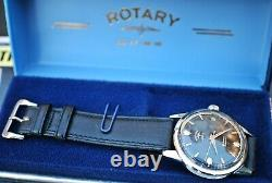 Rotary De Super 41 Compresseur Gents Vintage Montre Automatique Dans La Boîte C1960's-rare
