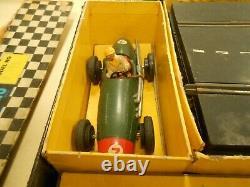Scalextric Rare Vintage Tin Plate Boxed Ensemble Des Années 1950. État D'origine