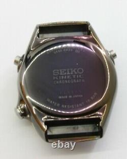 Seiko Slq003 J1 Rare Kinetic 9t82 Montre Analogique Chronographe Multi-diagramme Homme