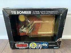 Star Wars Tie Bomber Diecast W Boîte À Bulles Seulement Esb Kenner Vintage 1980 Rare Htf