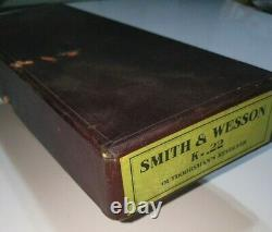 Super Rare Vintage 1931 1ère Année Smith & Wesson K. 22 Outdoorsman Maroon Box