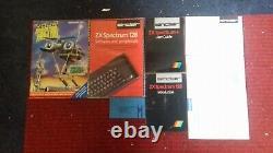 Ultra Rare Vintage Sinclair Zx Spectrum 128 Rack D'ordinateur (en Boîte De Menthe)