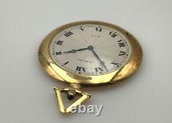 Very Rare Vintage Années 1940 Cartier Paris 18k Gold Pocket Watch & Chain Fob In Box