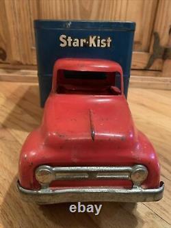 Vintage 1954 Tonka Star Kist Tuna Boîte De Livraison Camion Rare Pressé Acier États-unis #725