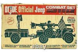 Vintage 1965 Gi Joe Officiel Moto-rev Combat Jeep Withrare As Seen On Tv Box Works