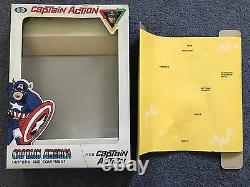 Vintage 1966 Ideal Captain Action Complete Captain America Outfit With Box! Rare