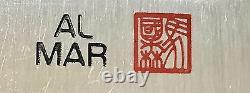 Vintage 1980' Rare Al Mar Seki Japon James N. Rowe Le Dague Couteau Boîte Monnaie