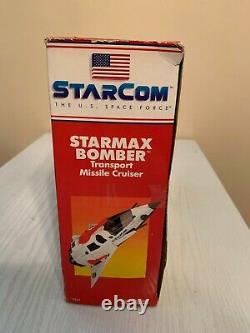 Vintage 1986 Coleco Starcom Starmax Bomber Missile Cruiser Misb Sealed Box Rare
