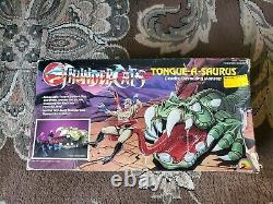 Vintage 1987 Ljn Thundercats Tongue-a-saurus Super Rare! Avec Box ! Saint Graal