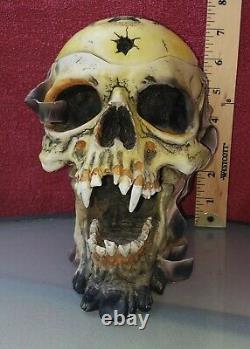 Vintage 2002 Metallica Rare Pushead Crâne Cendrier Buste Stash Box Figurine Spence