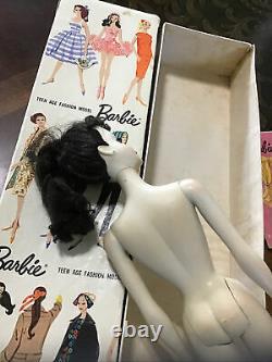 Vintage #3 Brunette Ponytail Barbie Et Boîte, Toutes Originales Et Rares